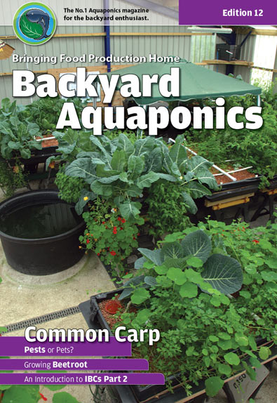 Backyard Aquaponics eMagazine Ed. 12 Cover