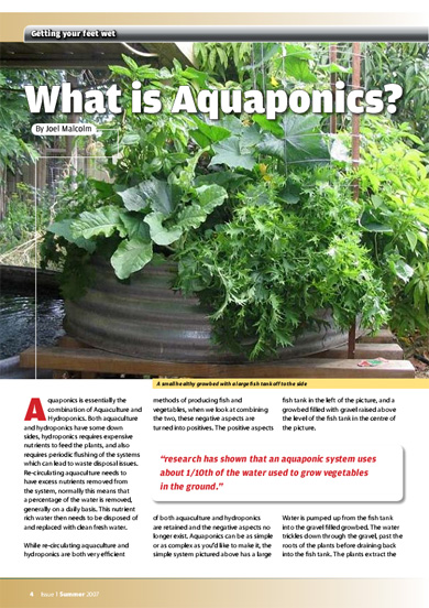 Backyard Aquaponics Magazine :  of the backyard aquaponics magazine is always going to remain a