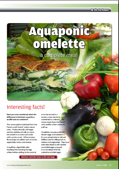 edition of the backyard aquaponics magazine is packed with aquaponics
